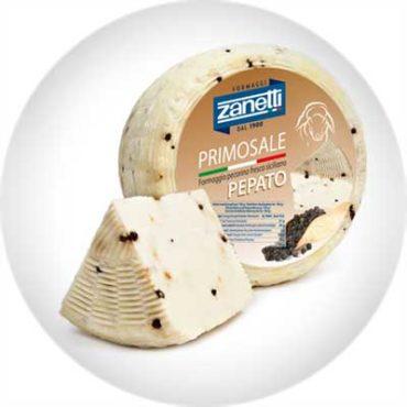 Сыр полутвердый Пекорино Примосале с черным перцем, 1.3кг