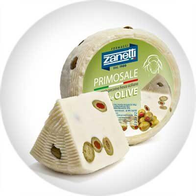 Сыр полутвердый Пекорино Примосале с оливкой