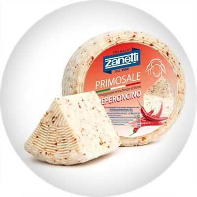 Сыр полутвердый Пекорино Примосале с чили