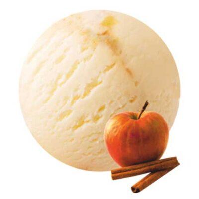 Ванильное мороженое с кусочками свежего яблока и пикантной корицей