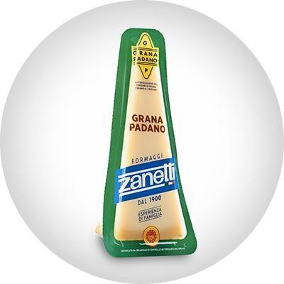 Сыр твердый Грана Падано Zanetti ДОП, 200гр