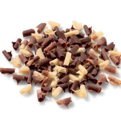 Шоколадные завитки чёрно-белые