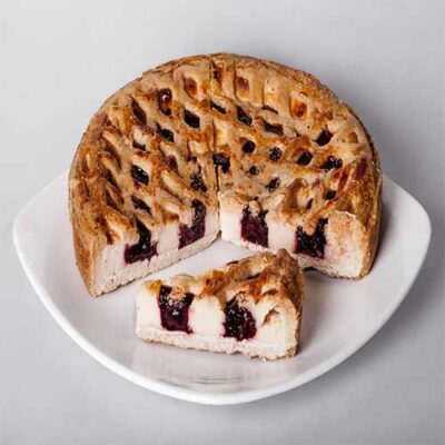 """Пирог """"Творожный с вишней"""""""