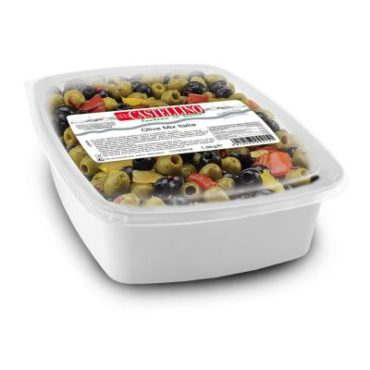 """Italian Mix"" seasoned pitted olives"