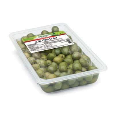 Оливки зеленые Sicilia без косточки Cinquina